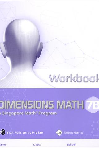 Dimensions Mathematics Common Core Workbook 7B